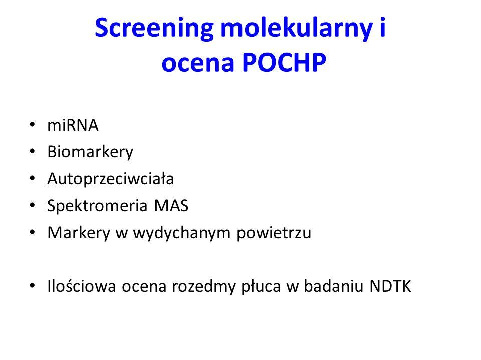 Screening molekularny i ocena POCHP