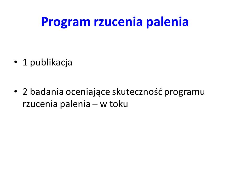 Program rzucenia palenia