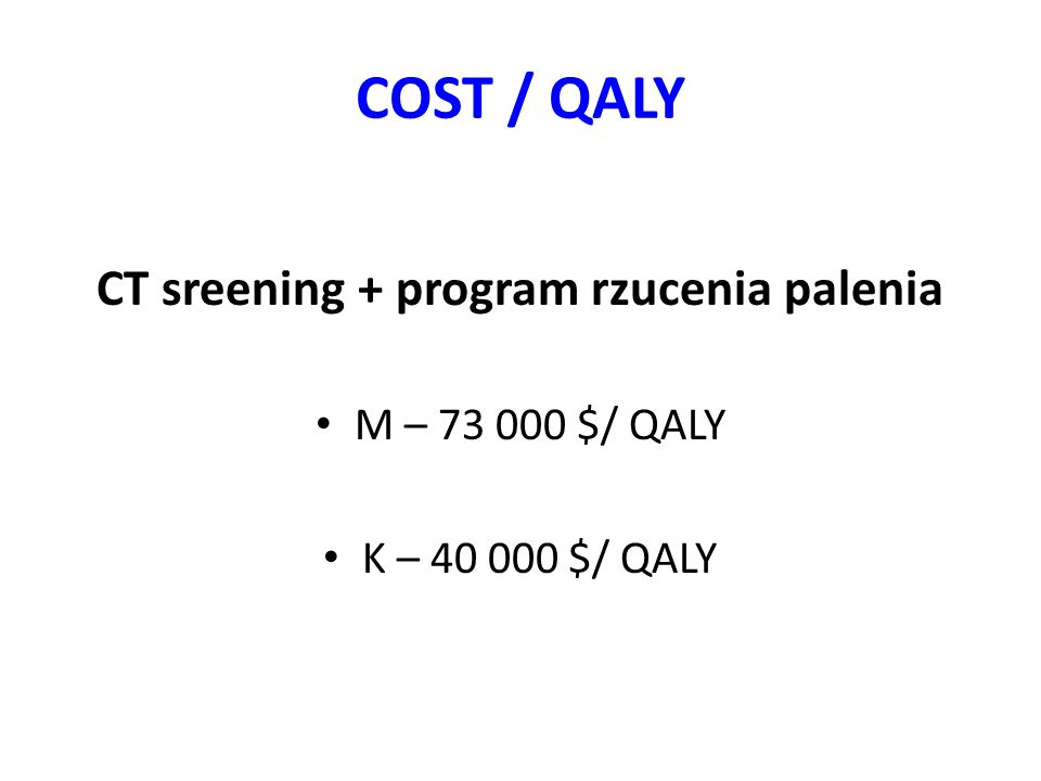 CT sreening + program rzucenia palenia