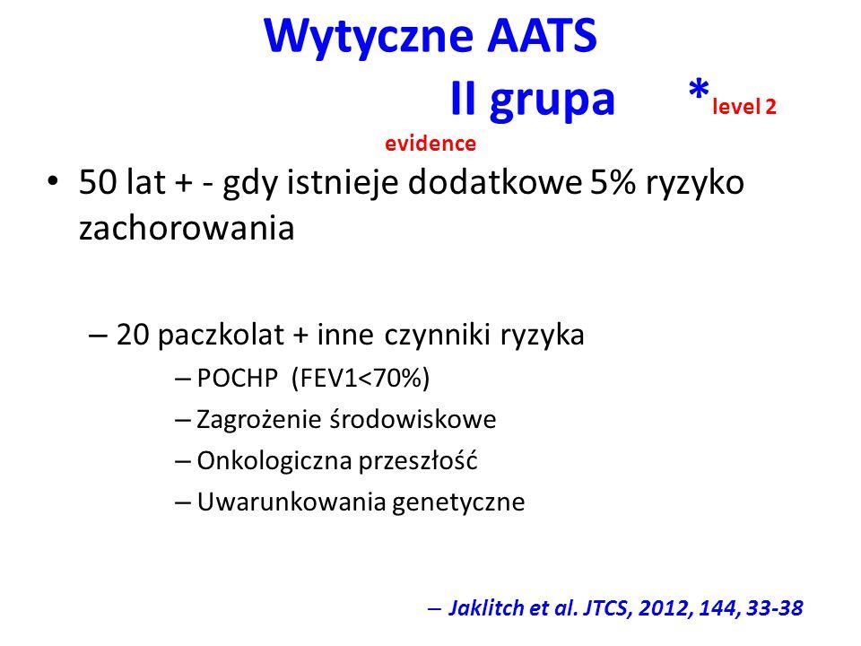 Wytyczne AATS II grupa *level 2 evidence