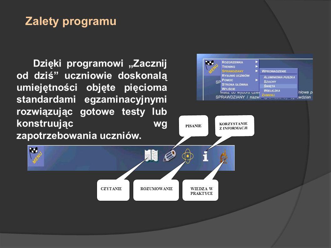 Zalety programu