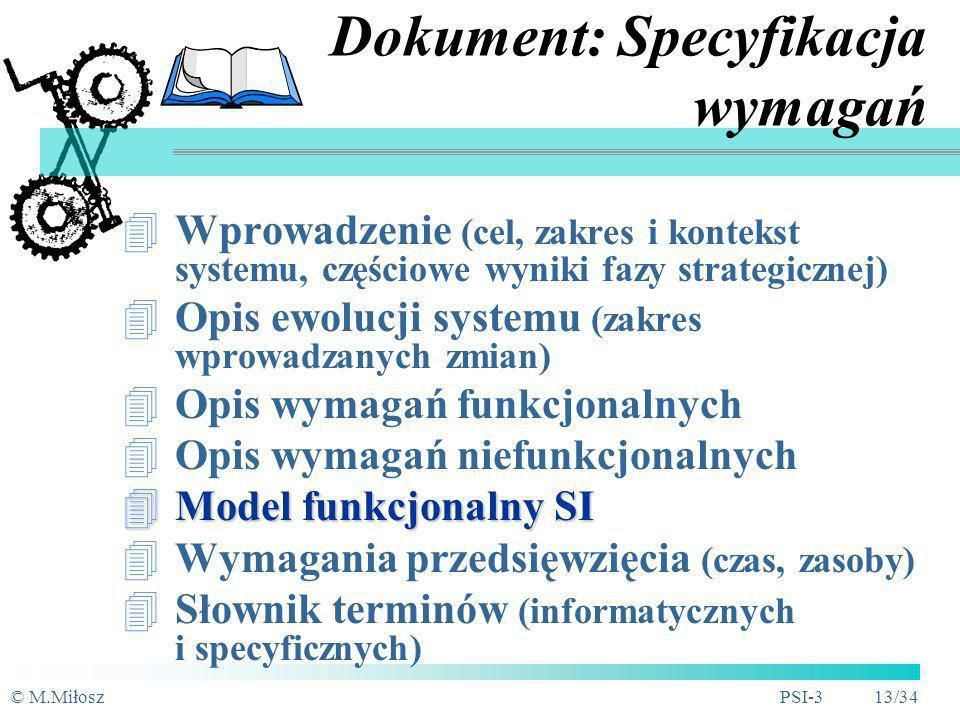 Dokument: Specyfikacja wymagań