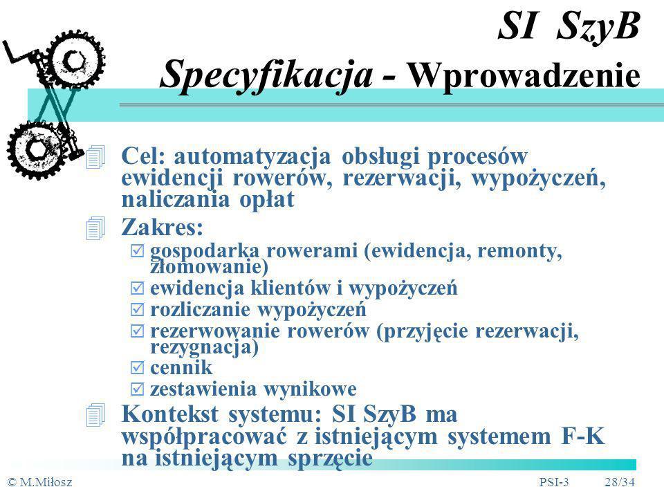 SI SzyB Specyfikacja - Wprowadzenie