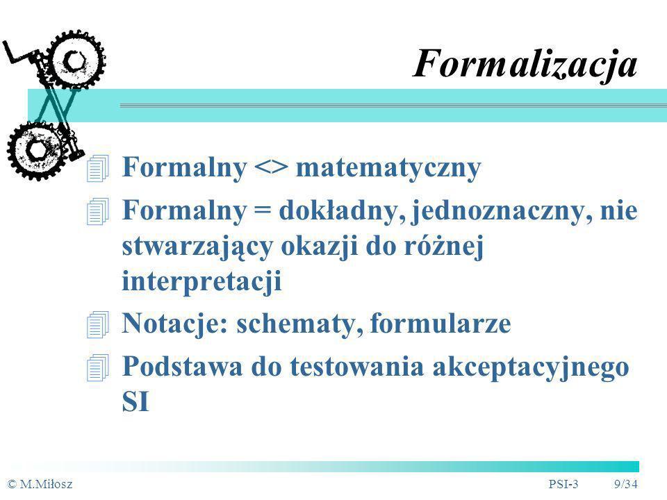 Formalizacja Formalny <> matematyczny