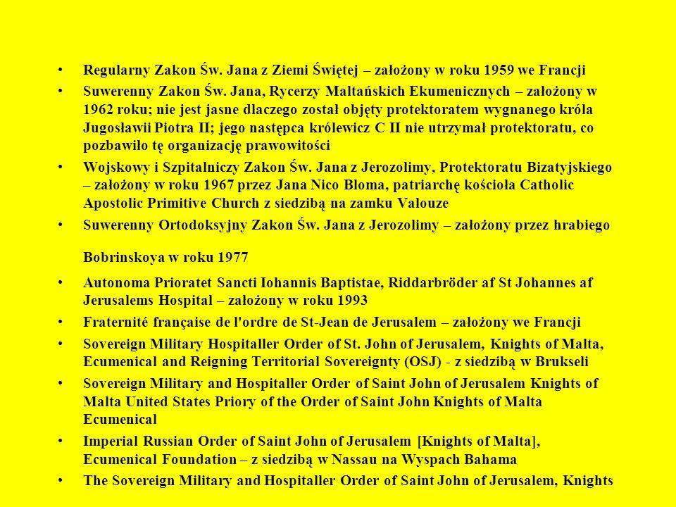 Regularny Zakon Św. Jana z Ziemi Świętej – założony w roku 1959 we Francji