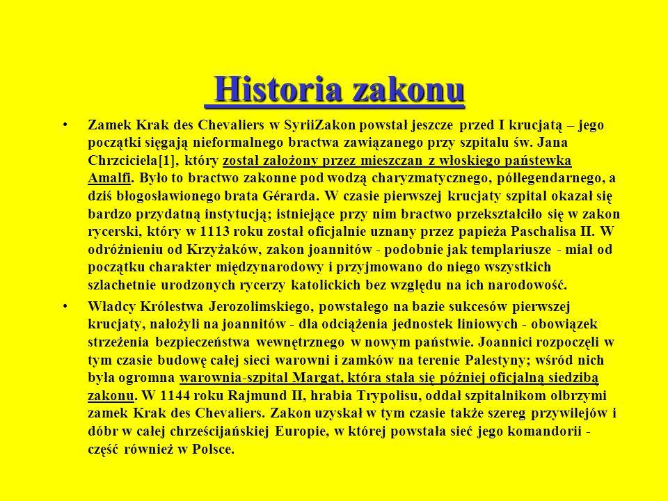 Historia zakonu