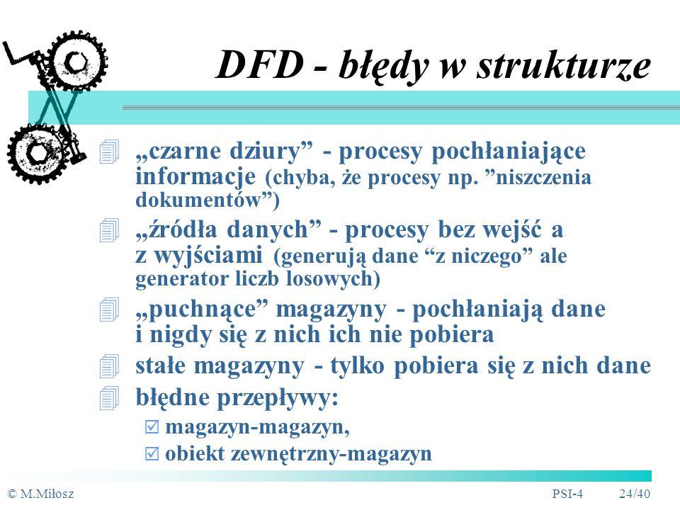 DFD - błędy w strukturze