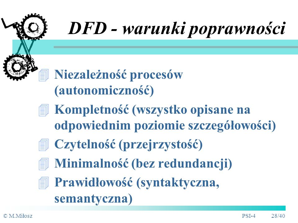 DFD - warunki poprawności
