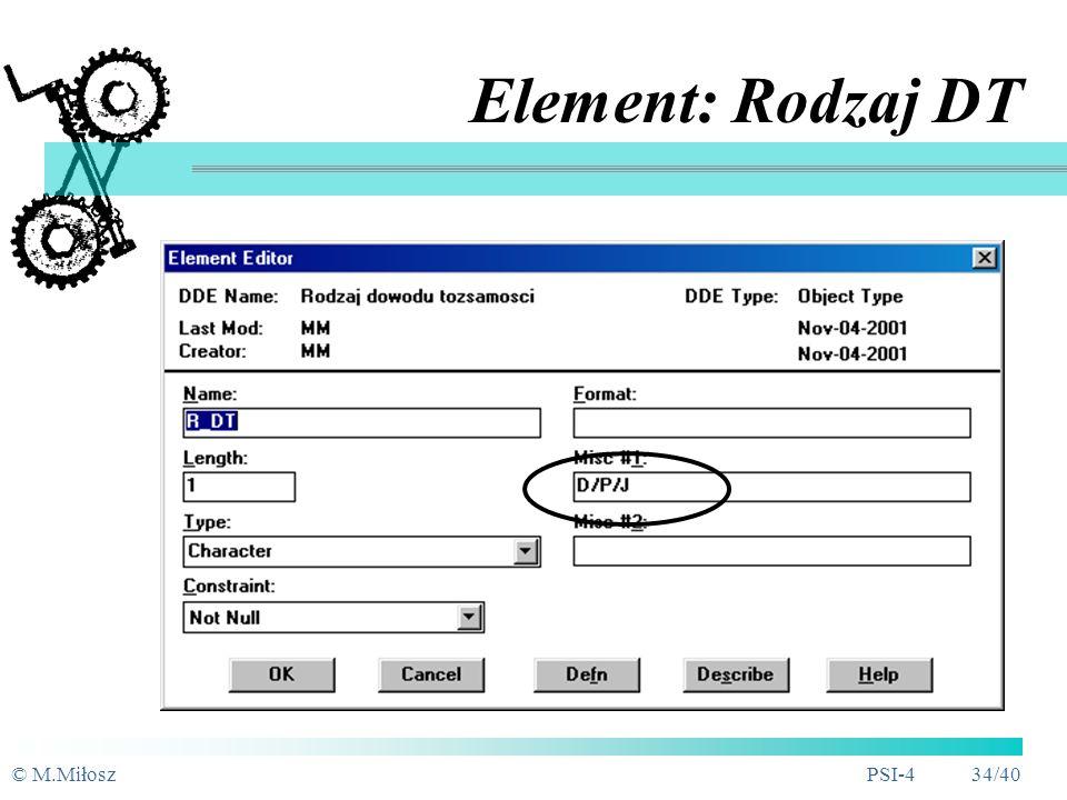 Element: Rodzaj DT © M.Miłosz