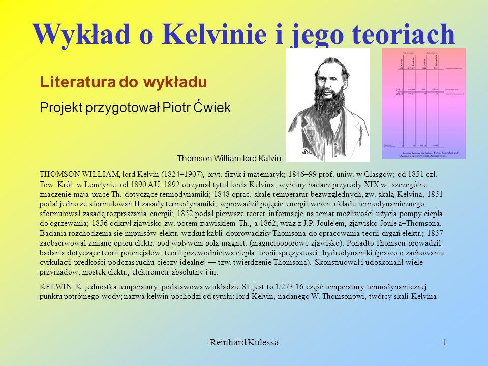 Wykład o Kelvinie i jego teoriach