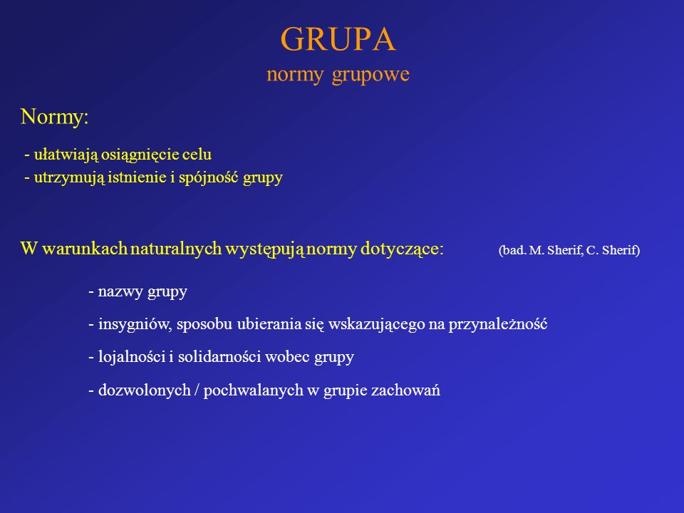 GRUPA normy grupowe Normy: