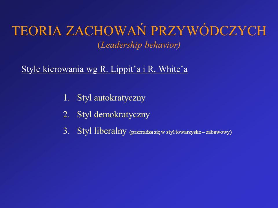 TEORIA ZACHOWAŃ PRZYWÓDCZYCH (Leadership behavior)