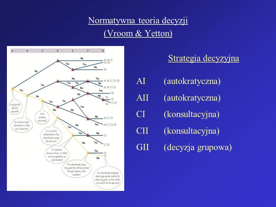 Normatywna teoria decyzji