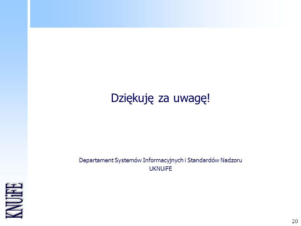 Departament Systemów Informacyjnych i Standardów Nadzoru