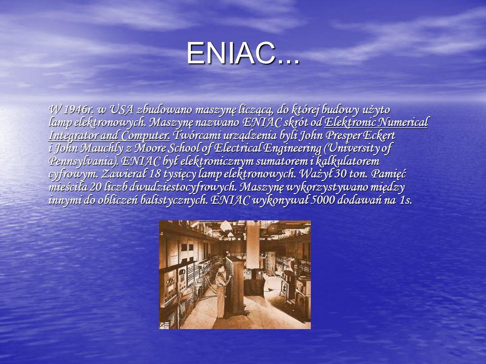 ENIAC...