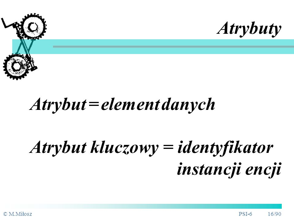Atrybut = element danych