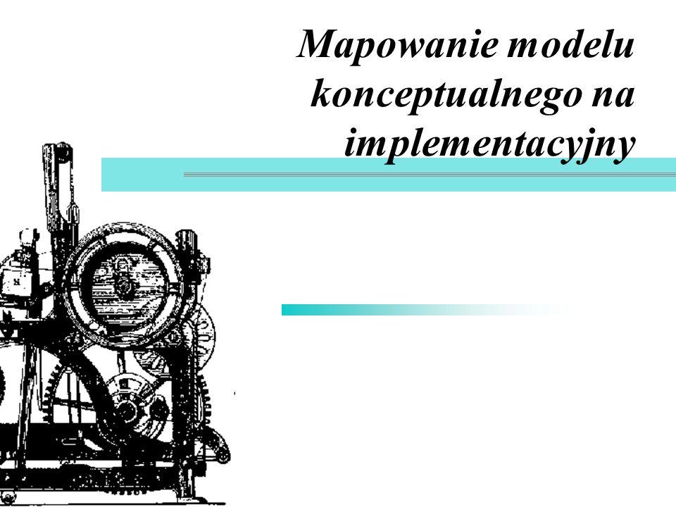 Mapowanie modelu konceptualnego na implementacyjny