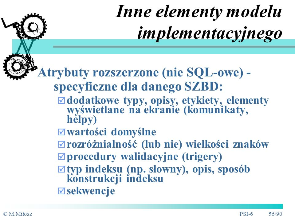 Inne elementy modelu implementacyjnego