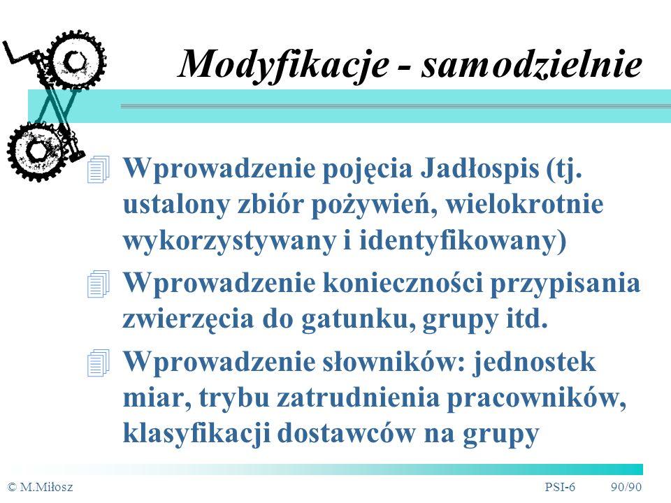 Modyfikacje - samodzielnie