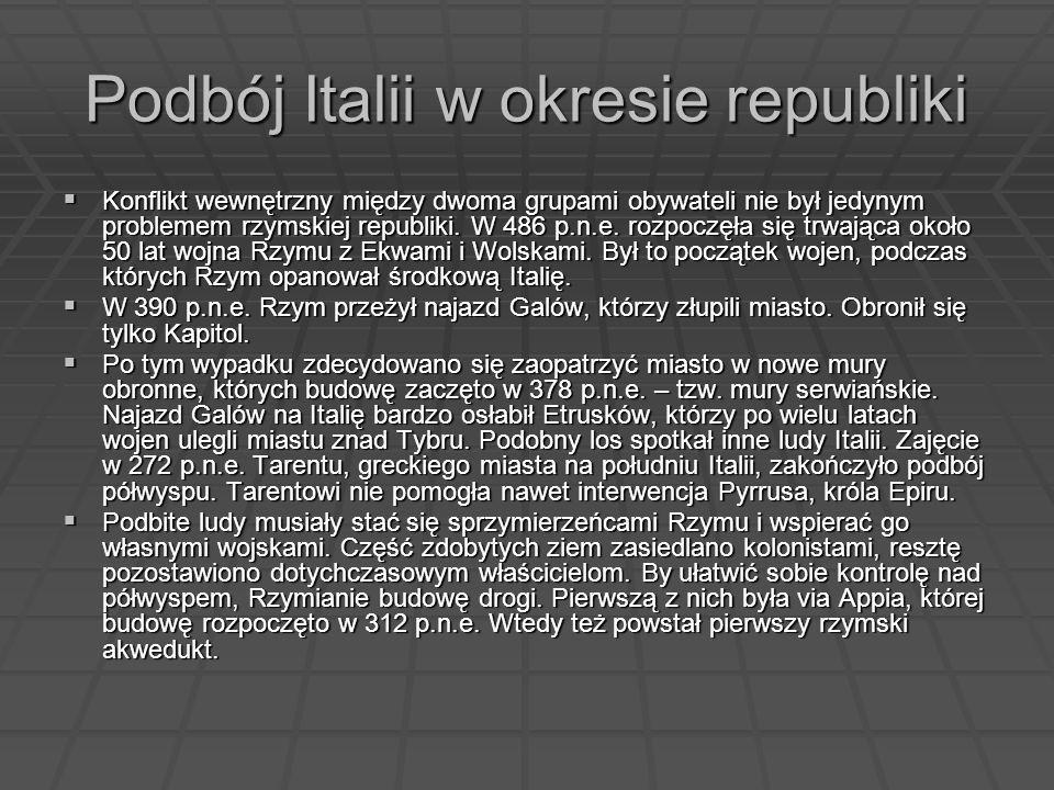 Podbój Italii w okresie republiki