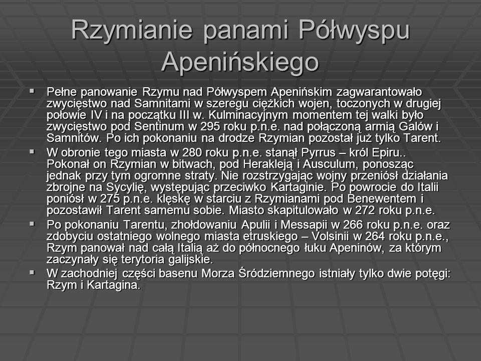 Rzymianie panami Półwyspu Apenińskiego