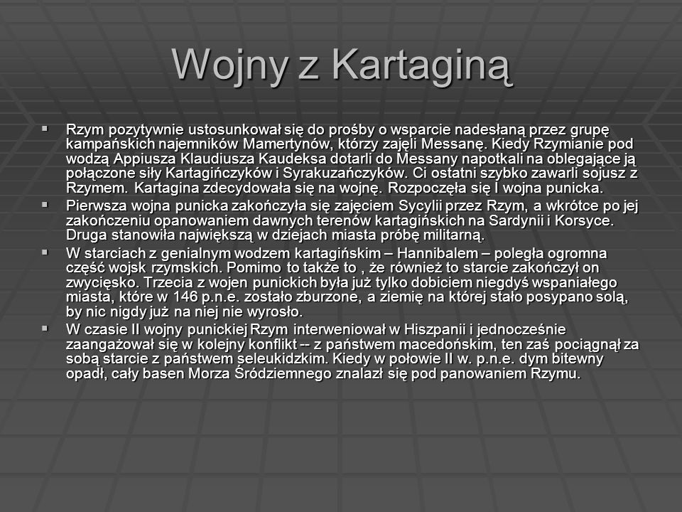 Wojny z Kartaginą