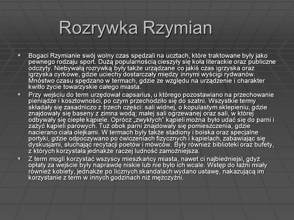 Rozrywka Rzymian