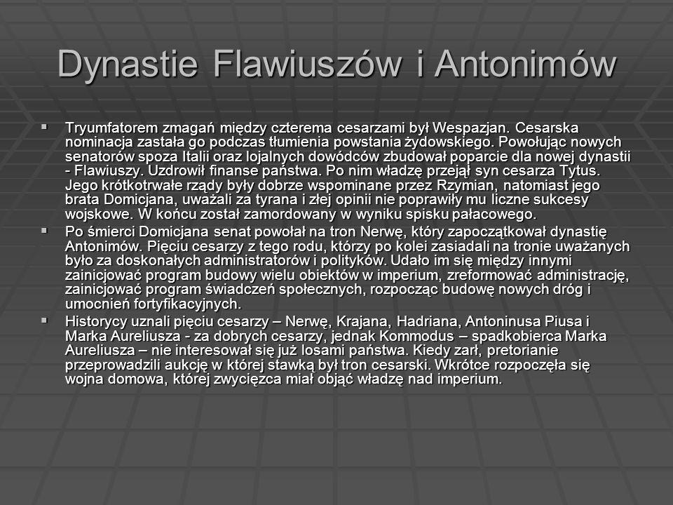Dynastie Flawiuszów i Antonimów