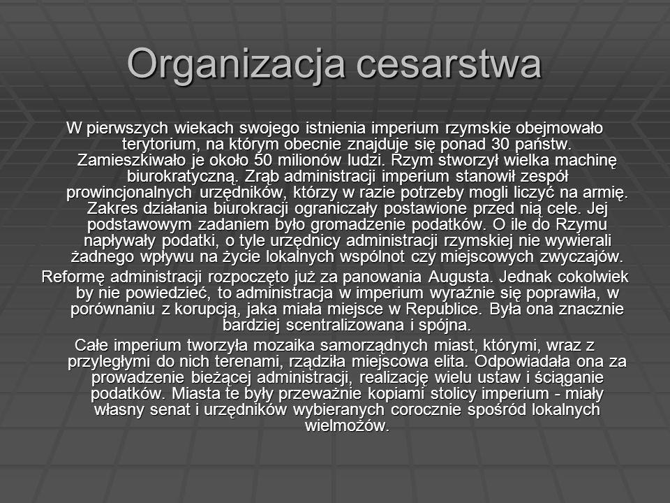 Organizacja cesarstwa