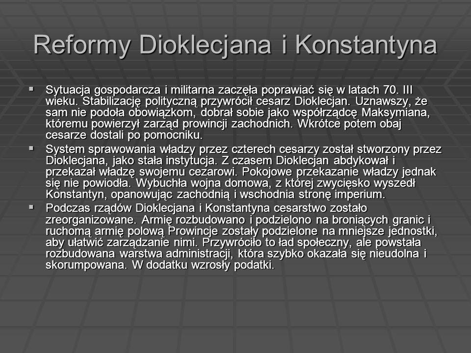 Reformy Dioklecjana i Konstantyna