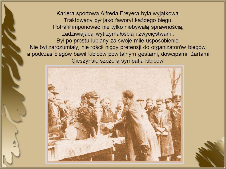 Kariera sportowa Alfreda Freyera była wyjątkowa.