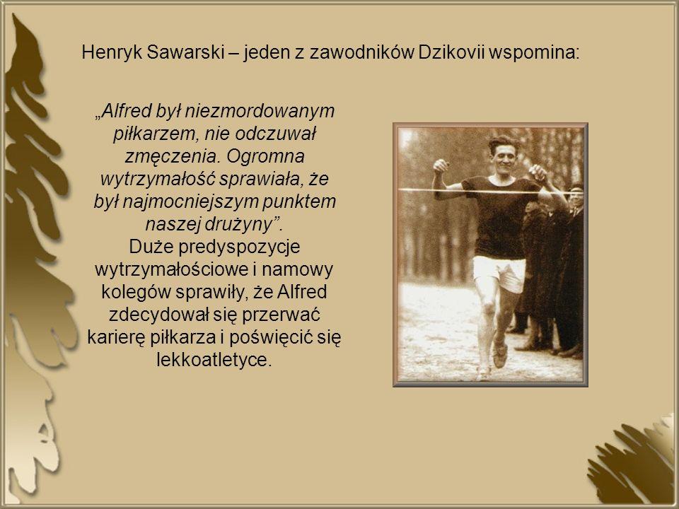 Henryk Sawarski – jeden z zawodników Dzikovii wspomina: