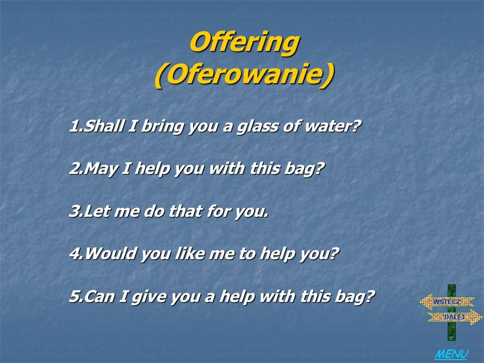 Offering (Oferowanie)