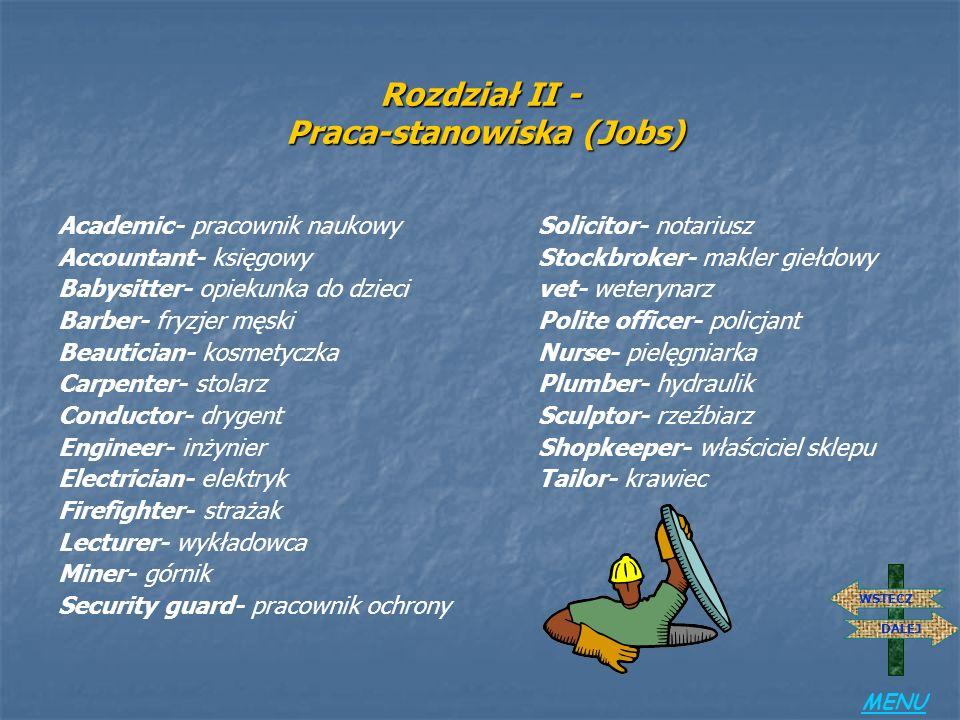 Rozdział II - Praca-stanowiska (Jobs)