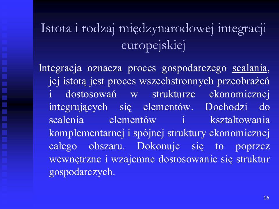 Istota i rodzaj międzynarodowej integracji europejskiej