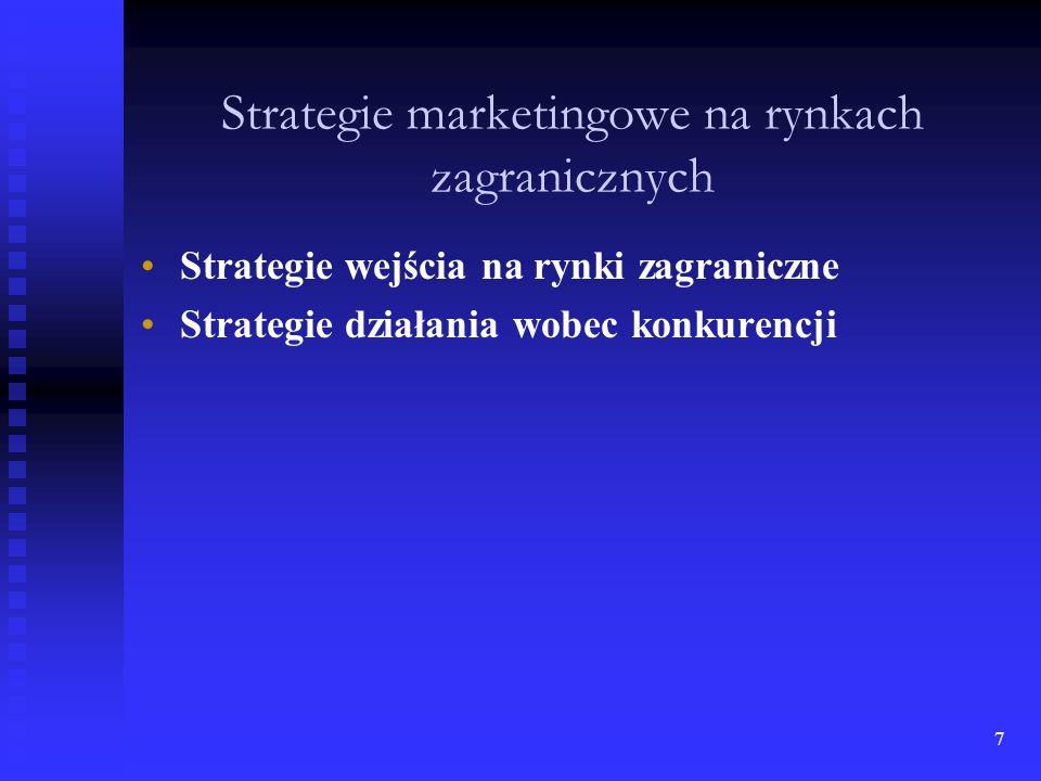 Strategie marketingowe na rynkach zagranicznych