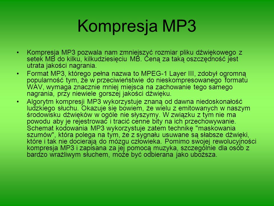 Kompresja MP3