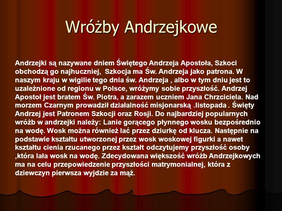 Wróżby Andrzejkowe