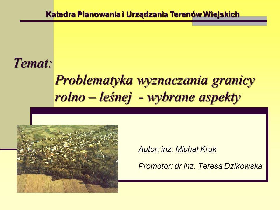 Autor: inż. Michał Kruk Promotor: dr inż. Teresa Dzikowska