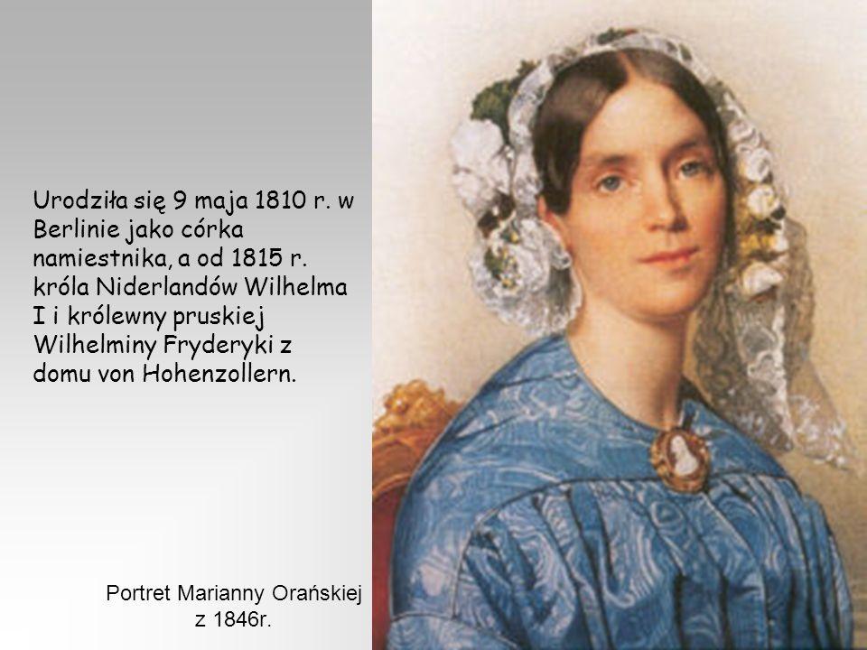Portret Marianny Orańskiej z 1846r.
