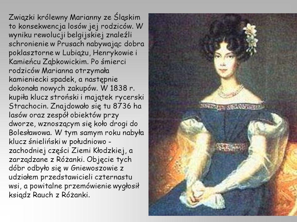 Związki królewny Marianny ze Śląskim to konsekwencja losów jej rodziców.