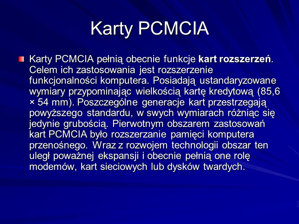 Karty PCMCIA