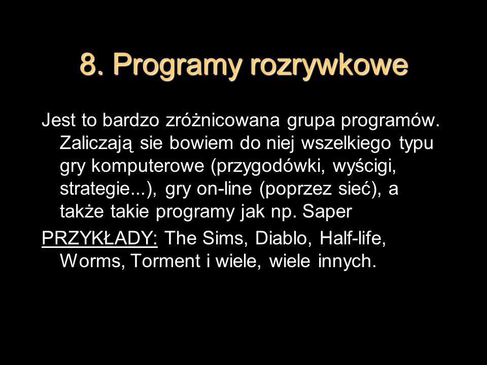 8. Programy rozrywkowe
