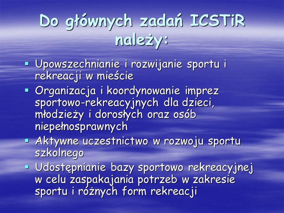 Do głównych zadań ICSTiR należy: