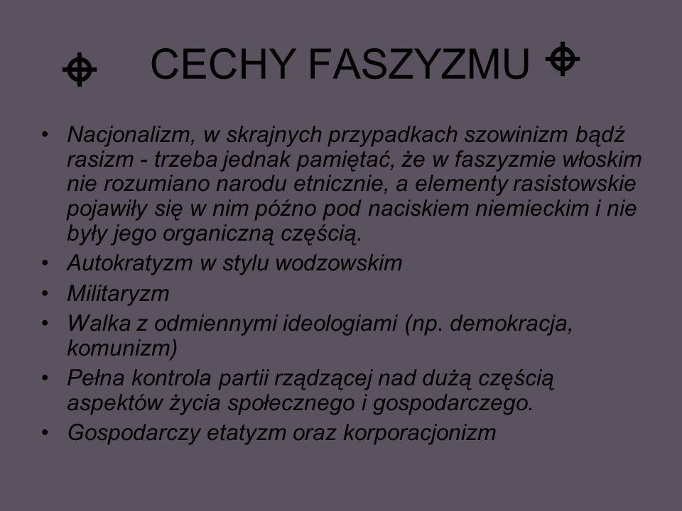 CECHY FASZYZMU