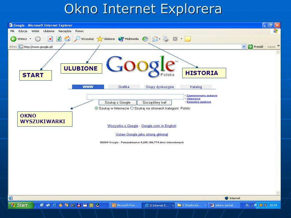 Okno Internet Explorera