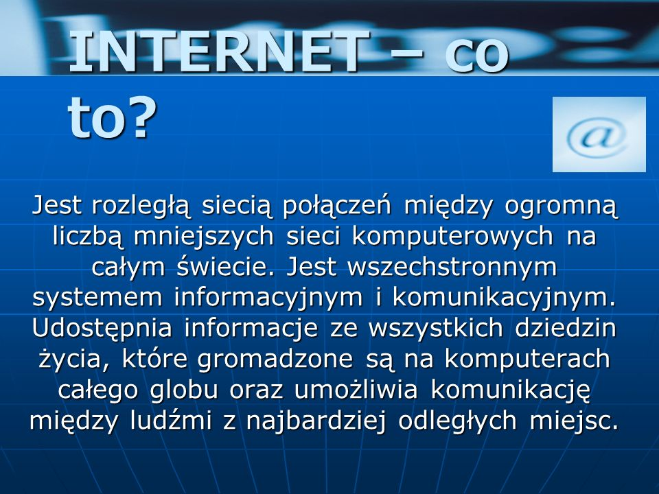 INTERNET – co to