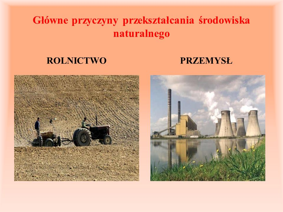 Główne przyczyny przekształcania środowiska naturalnego