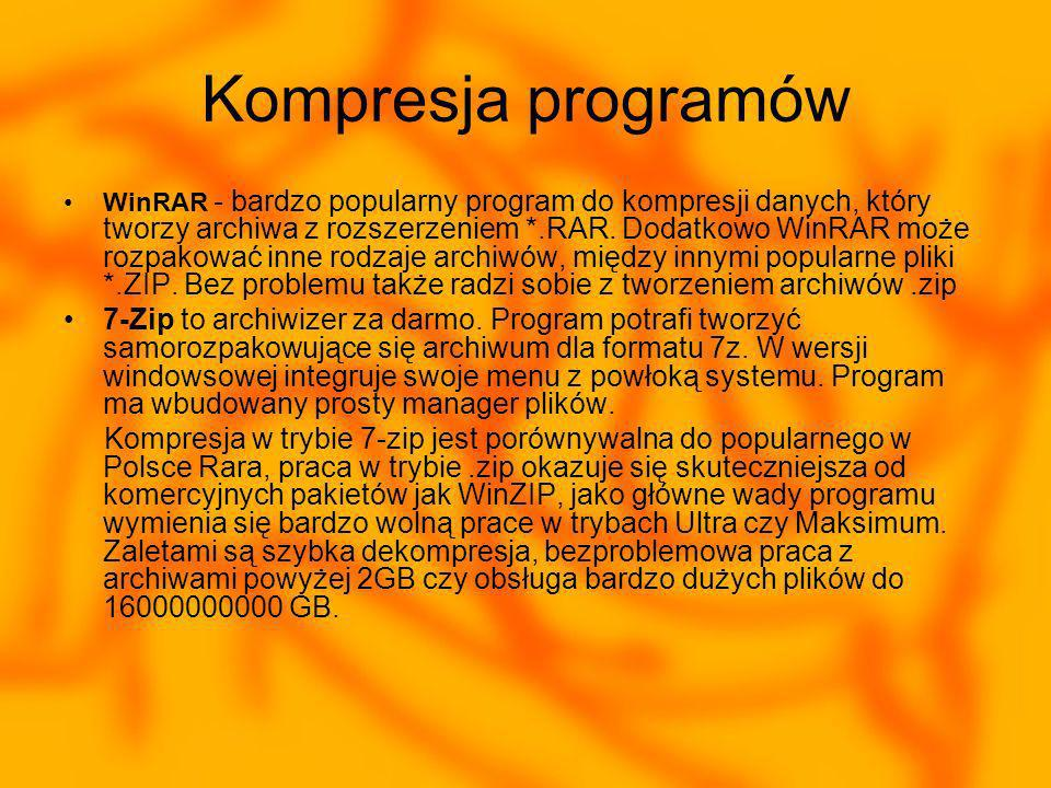 Kompresja programów