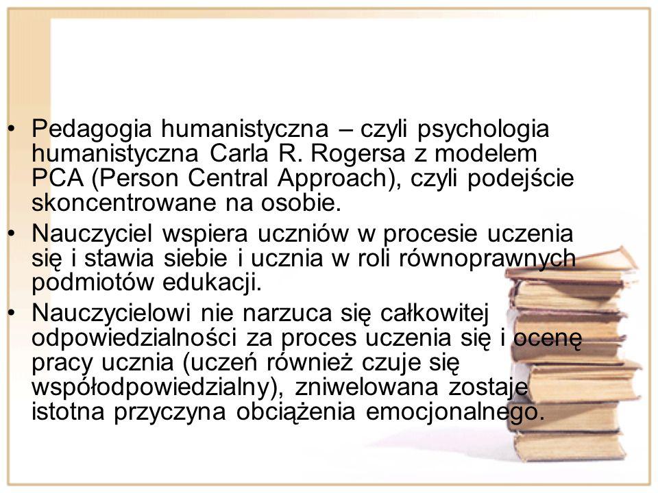 Pedagogia humanistyczna – czyli psychologia humanistyczna Carla R